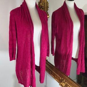 ANTHROPOLOGIE magenta pink cardigan/kimono